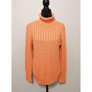 New York & Company Cable Knit Turtleneck Sweater
